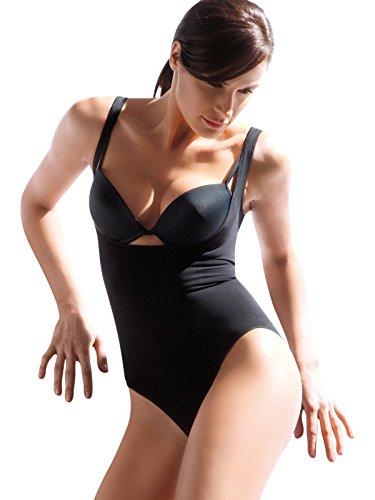 Body Modellante SCOLLO SOTTOSENO Contenitivo BUSTINO Senza Cuciture CORSETTO SPALLA LARGA Sensì Made in Italy S M L XL Nero