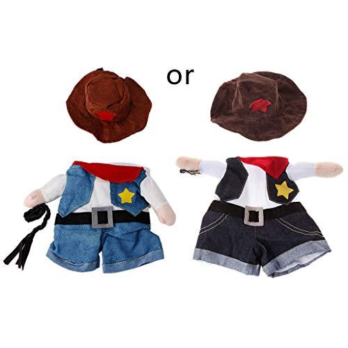 LDA Erhalten Sie frischen lustigen Haustier-Kostüm-Hundekatzen-Kostüm-Kleid-Kleid-Doktor Policeman Cowboy Dog Denim, der als das Bild Gezeigt (Frische Kostüm)