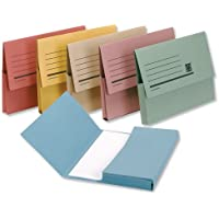 5 Star Premier Document Wallet Half Flap 285gsm Capacity 32mm A4 Assorted (Pack of 50)