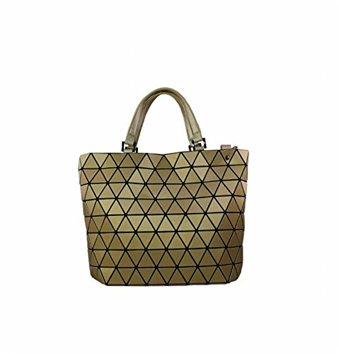 Preisvergleich Produktbild Einfache Mode Trend Dreieck Film Geometrische Paket Schulter Schräge Kreuz Handtasche , Gold