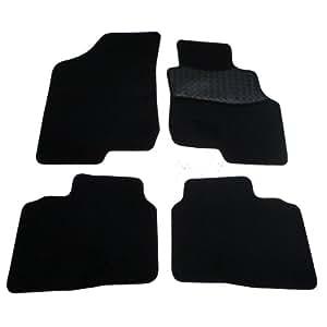 Sakura Mat Set includes Carpet with Rubber Heelpad, Black