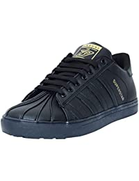 Black Tiger Shoes for Men's Superstar Synthetic Leather Casual Shoes and Sneakers 8074-Black