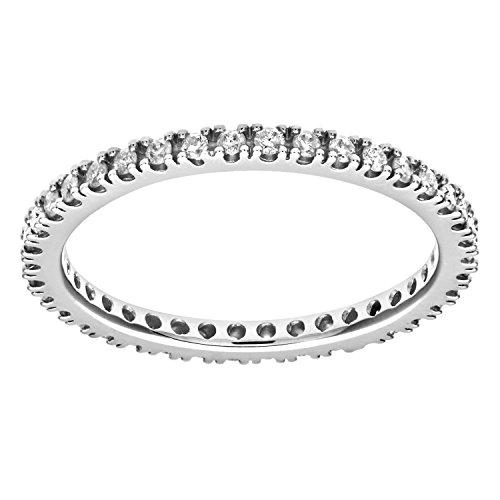 Naava Damen-Ring 9 K 375 Weißgold Diamant