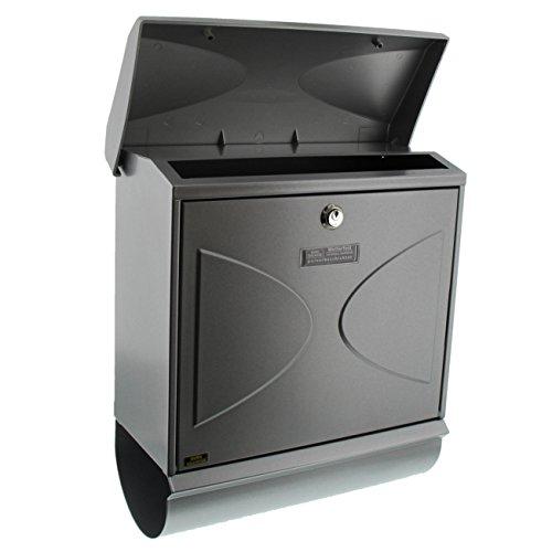 BURG-WÄCHTER, Briefkasten-Set mit integriertem Zeitungsfach, A4 Einwurf-Format, Verzinkter Stahl, Futura 926 Si, Silber - 3