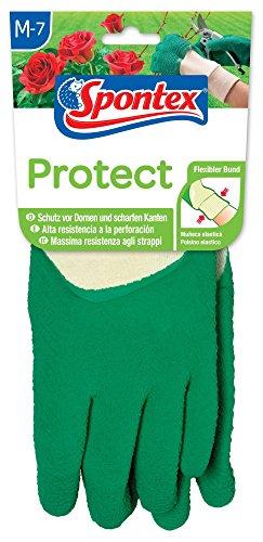 Spontex Protect, 1 Paar Gr. M - Gartenhandschuh extra robust für Dornen & Hecken