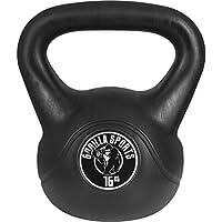 Gorilla Sports Kettlebell kg - Pesa rusas (plástico, de 16 a 17 kg, 16 kg), color (16Kg), talla 16 kg