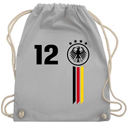 Fußball-Europameisterschaft 2020-12. Mann Deutschland WM - Unisize - Hellgrau - WM110 - Turnbeutel & Gym Bag