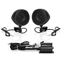 "‏‪The Wholesale House Boss Motorcycle/Utv Speaker And Amplifier System 3"" Bluetooth Speakers 600 Watts Black Housing‬‏"