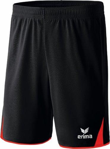 erima Erwachsene Classic 5-C Shorts, schwarz/rot, XL