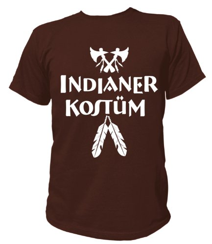 Artdiktat T-Shirt Indianer Kostüm Karneval Fasching Herren, Größe XXL, ()