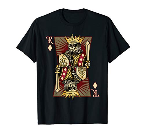 Skeleton Dead Play Card Neuheit T-Shirt ()