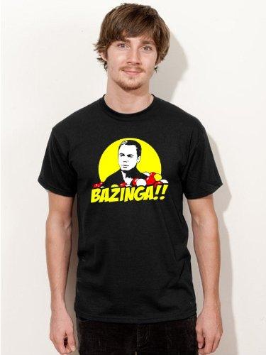 T-Shirt BAZINGA Sheldon Big Bang Theory Kultserie Shirt schwarz E167 Gr. XXXL