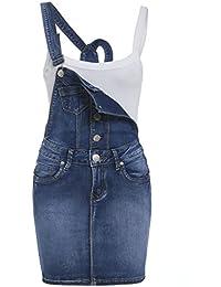 SS7 NEUF pour femmes skinny Salopette Jeans robe, bleu moyen, Tailles 8 à 14