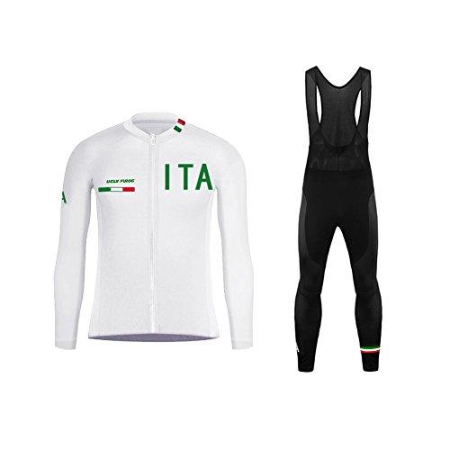 Uglyfrog Completo Invernale Ciclismo Uomo Termico Vello Maniche Lunghe Antivento Ciclismo Maglia + 3D Lunga e Pantaloni Body Triathlon Maschio Giovane Fashion Design