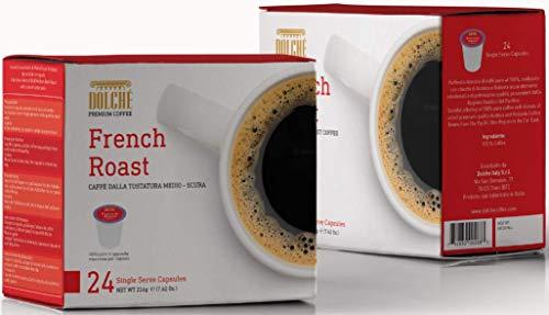 Dolché French Roast, American Kaffee Kapseln, kompatibel Keurig K-cup 2.0, Box 96 Kapseln (4x24)