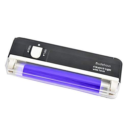 Compact Pro - Torcia ultravioletta luce nera, colore: nero 1 pz nero