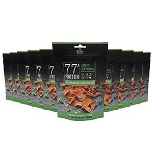 Grillido Protein Chips | 77% Eiweiß Nur 9% Fett | Der Eiweißreichste Snack der Welt (Kräuter der Provence), 10 x 25 g