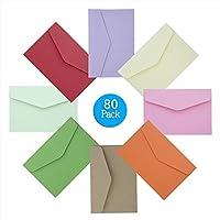 Mini Sobres, Diealles 80 Piezas Multicolor Sobres Adorables Bonitos para Tarjetas de Felicitación Artesanía y Invitaciones de Fiesta, 11.7 x 7.8 cm