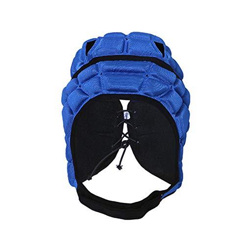 Weich gepolsterte Kopfbedeckung - 7v7 Soft Shell - Rugby - Flag Football Helm - Fußball Goalie & Epilepsie Kopf Fallschutz - für 3-11 Jahre alte Kinder - Rot, Schwarz, Blau