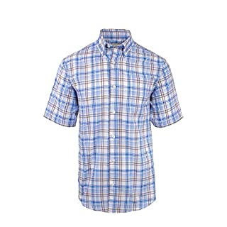 Fenside Country Clothing Alford - Mens Easycare Short Sleeve Check Summer Shirt (L - 44-46