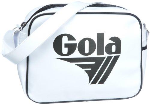 Gola Redford CUB901 Unisex - Erwachsene Henkeltaschen, Weiss (White/Black), 36x27x12 cm (B x H x T)