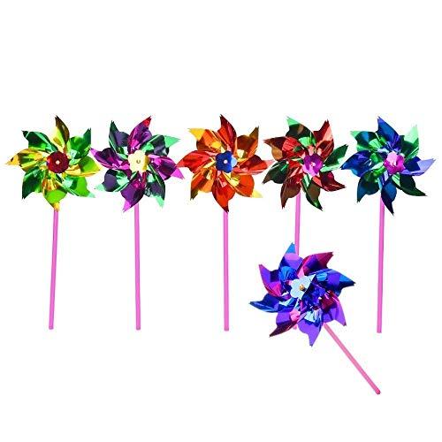 JZK 100x Kinderwindmühle Windmühle Windrad Spielzeug für Kinder Garten Balkon Terrasse Kindergeburtstage, Party Dekoration, Party Spielzeug Mitgebsel
