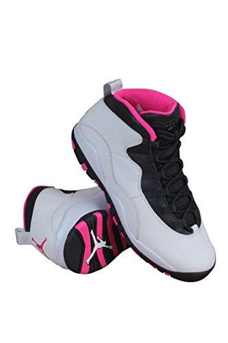 Nike Air Jordan 10Retro GS Pure Platinum/Pink/Weiß/Schwarz 487211-008 PURE PLATINUM/BLACK/VIVID PINK