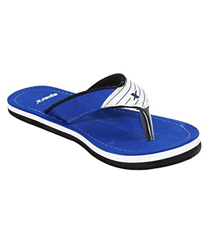Sparx Men's SFG529 Series Blue White Synthetic Running Slippers 8UK  available at amazon for Rs.285
