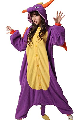 wotogold Damen Tier Drachen Pyjamas Cosplay Kostüme X-Large -