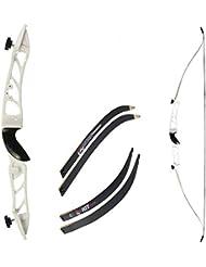 Recurvebogen Core Silhouette Schwarz mit schwarzen Wurfarmen 68 Zoll 34 lbs