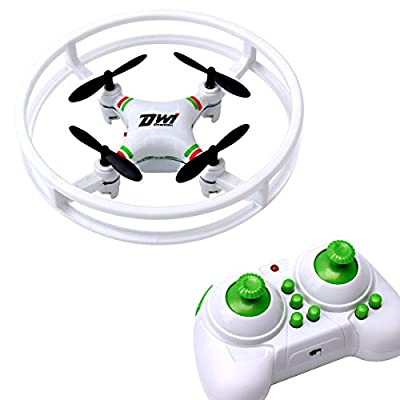 Dwi Dowellin Mini Drone RC Quadcopter with LED Light 360° Flips and Rolls Remote Control Headless Mode One Key Return Spin Micro UFO Toy Gift for Kids Adults, White from Dwi Dowellin