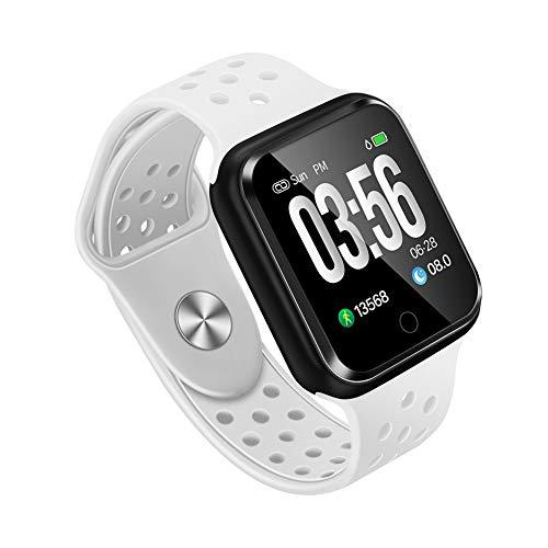 WAFA Fitness Armband mit Pulsmesser Blutdruck, Wasserdicht Fitness Tracker Smartwatch Sportuhren Aktivitätstracker Pulsuhren Schlafen Sport Data Monitor Vibrationsalarm Anruf SMS für Damen Männer -