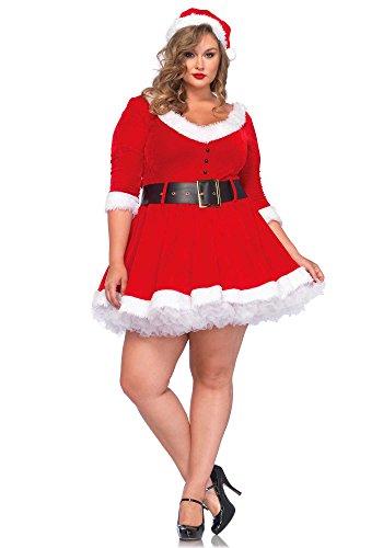 Leg Avenue 85411X Miss Santa - Größe 3X-4X EUR 48-50, rot/weiß