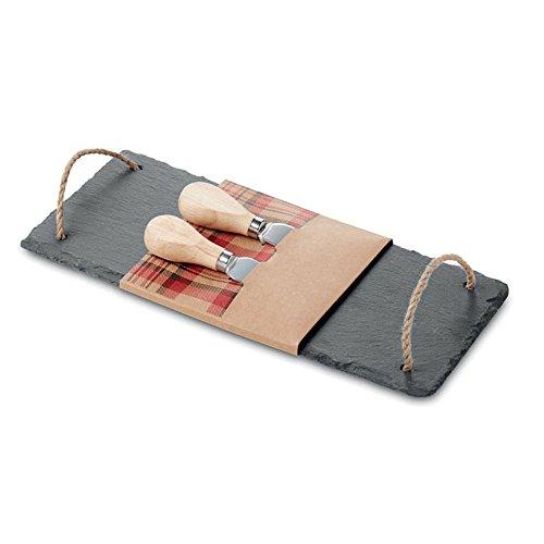 Käseplatte aus Schiefer Platte Servierplatte Geschirr Teller Brett von noTrash2003®