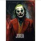 yhnjikl Joker 2019 Joaquin Phoenix Heath Ledger Dc Movie Comics Wall Art Pittura Stampa su Tela Poster Immagini Home Deco 40X60 Cm Senza Cornice