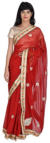 tanishq-designers-womens-georgette-saree-maroon
