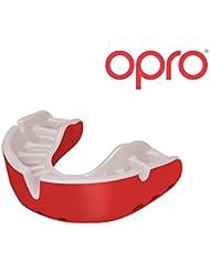 OPRO Protège-dents Self Fit Gold - Meilleur Protège-dents Auto-Ajustable au Monde - Pour Rugby, Handball, Hockey, MMA, Boxe, Football Américain, Sports de Contact Conçu et Fabriqué au Royaume-Uni