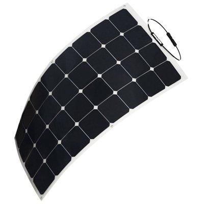 HQST 100W 12V Solarpanel Solarladegerät Solarmodul SunPower Flexibel Leichtes mit MC4 für RV, Boot, Kabine, Zelt, Auto, Anhänger , Camper oder Jede Andere Unregelmäßige Oberfläche