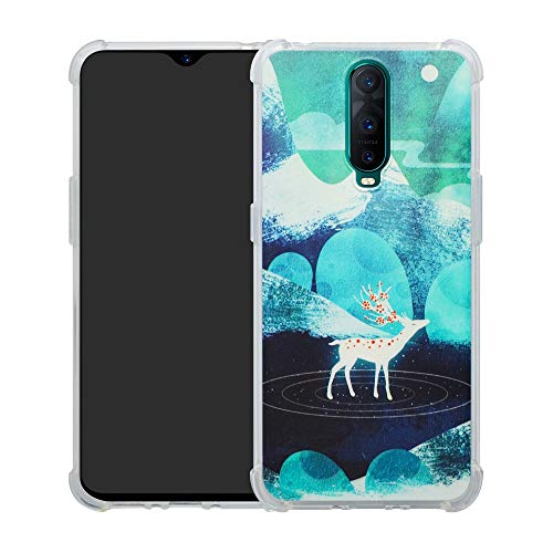 HHDY Archos Core 50 Hülle, Painted Muster Weich Ultradünne TPU Silikon Handyhülle Case Cover für Archos Core 50,Green Sika Deer