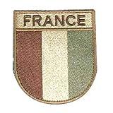 Cet écusson de l'armée française est fait en velcro, il est de couleur sable dans la gamme des nouveaux modèles d'écusson. Modèle réglementaire de l armée française basse visibilité sable
