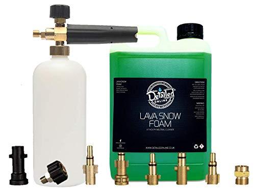 DetailedOnline Schneeschaum-Lanze + Plus 2,5 l Wassermelone Lava Schneeschaum - passend für alle Hochdruckreiniger