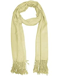 URBAN-TRENDZ Latest Collection of Satin Pashmina Scarf Stole Duppatta Shawl  with twisted fringes in 8b114c16263