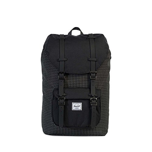 THE HERSCHEL SUPPLY CO. BRAND - LITTLE AMERICA MID CLASSICS BACKPACK BLACK GRID