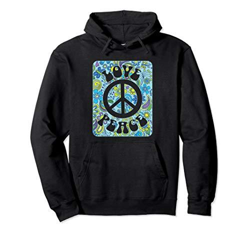 Hippie Friedensweinlese Retro Kostüm Geschenk Pullover Hoodie