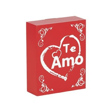 JennyGems Schild Holz spanischen Sprache I Love You: Te Amo Regalo - Amar - TE Quiero - Signo de Regalo - Best Friends Geschenk in Spanisch