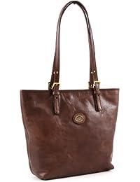 37a97b36995c The BRIDGE Leather Shoulder Bag LADIES  Handbag Bag Bucket Style Beautiful  classic Brown GENUINE STORY