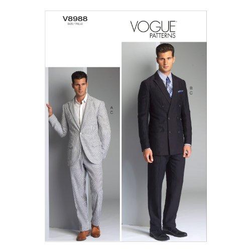 vogue-patterns-v8988-patrons-de-vestes-et-pantalons-pour-homme-multicolore-tailles-34-a-40