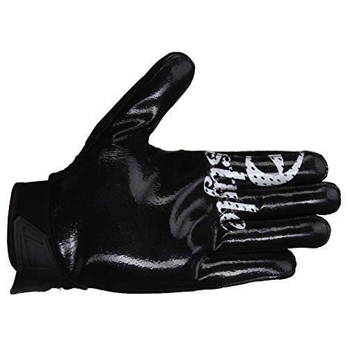 Prostyle Arrow, leicht gepolsterte Football Receiver Handschuhe - schwarz Gr. L (Handschuhe Football Gepolsterte)