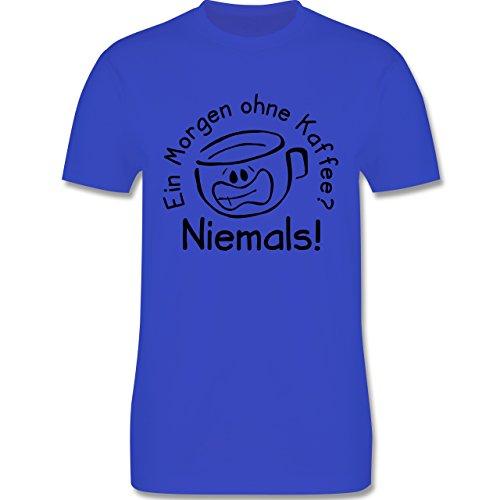 Sprüche - Ein Morgen ohne Kaffee - Herren Premium T-Shirt Royalblau