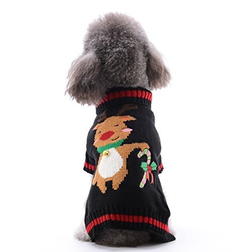 DOGGYZSTYLE Pet Urlaub Weihnachten Rentier Hund Pullover Kostüm mit Bell, S, Rentier (Urlaub Kostüm Firma)